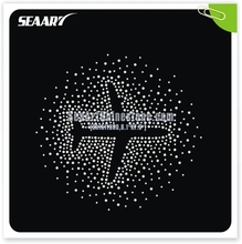 T-shirt iron-on heat press crystal rhinestone Aircraft garment trimmings