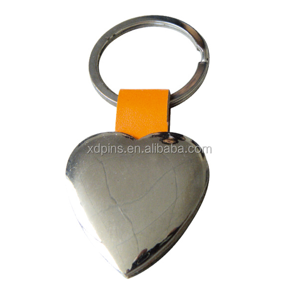 promotional custom made shape sound effect leather keychain