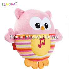 Hot sale factory supply baby owls plush toys with sound