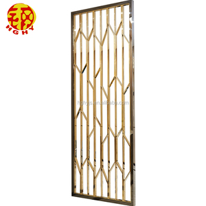 Stainless steel rose gold wall art hanging screens fashionable room divider designs living room partition