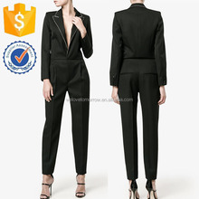 Black Ctrystal Tailored V neck Latest Formal Fashion Jumpsuit For Lady Manufacturer Women Apparel (TF0122S)
