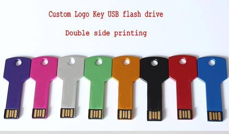 OEM Custom metal key shape 12gb usb flash drive for 4Gb 8Gb 64GB