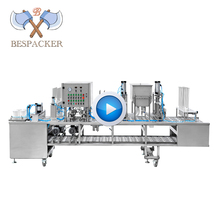 Bespacker cup fill and seal machine XBG60-4 automatic mineral water ice cream yogurt plastic cup filling and sealing machine