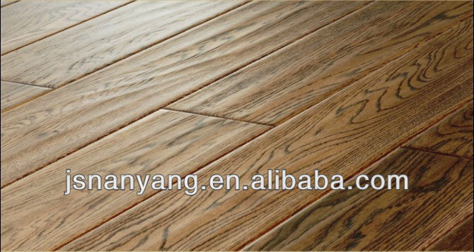 Russia Oak click system engineered wood Flooring with FSC,CE,ISO9001 certifications