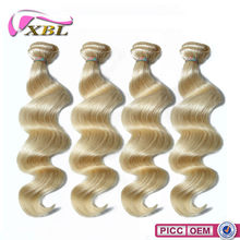 XBL New Arrival 7A Virgin Wholesale Price Double Layers Blonde Malaysian Hair Weave
