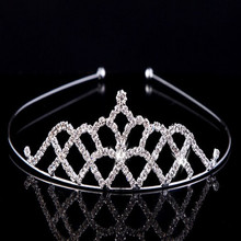 yiwu China cheap factory price shining crystal style rhinestone wedding bridal tiara dressing