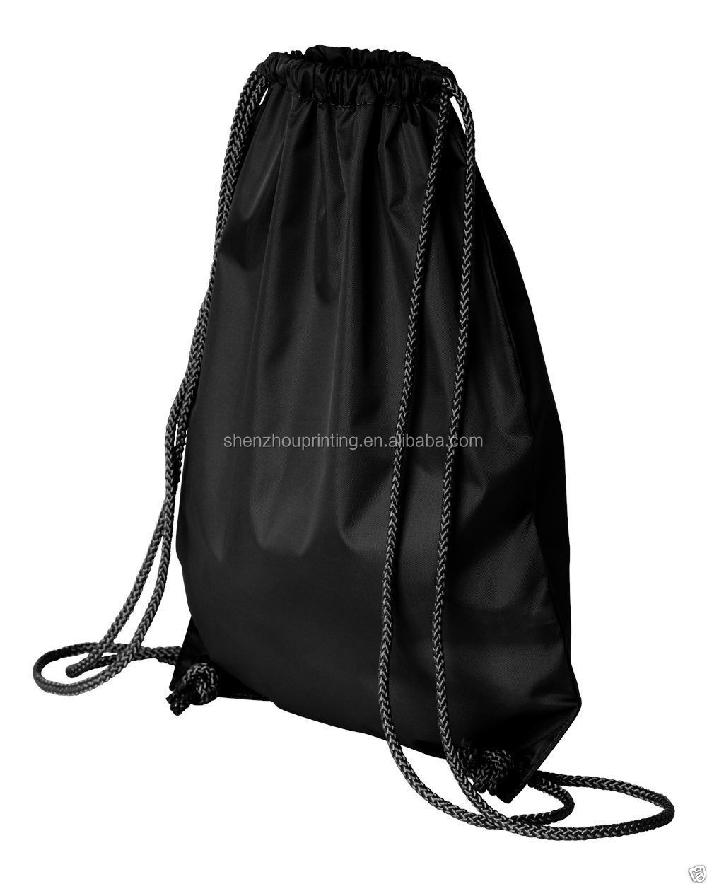 Factory sell good quality cheapest custom produce waterproof nylon polyester drawstring bag with your designed logo