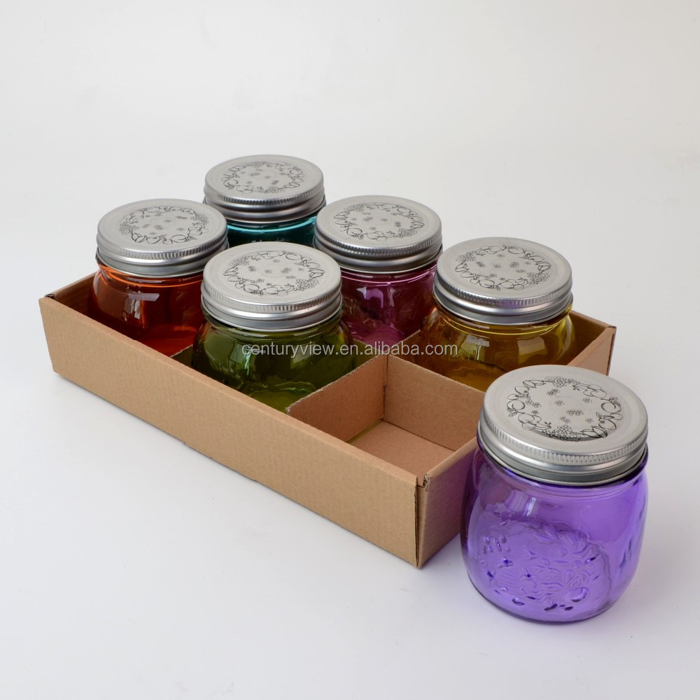 mini colored 10oz set mason jars with screw lid buy mini 10oz mason jars mini colored 10oz set. Black Bedroom Furniture Sets. Home Design Ideas