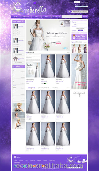 Wedding Website Design Online Retail Store E-commerce Consolidation Service Expand Your Business To world