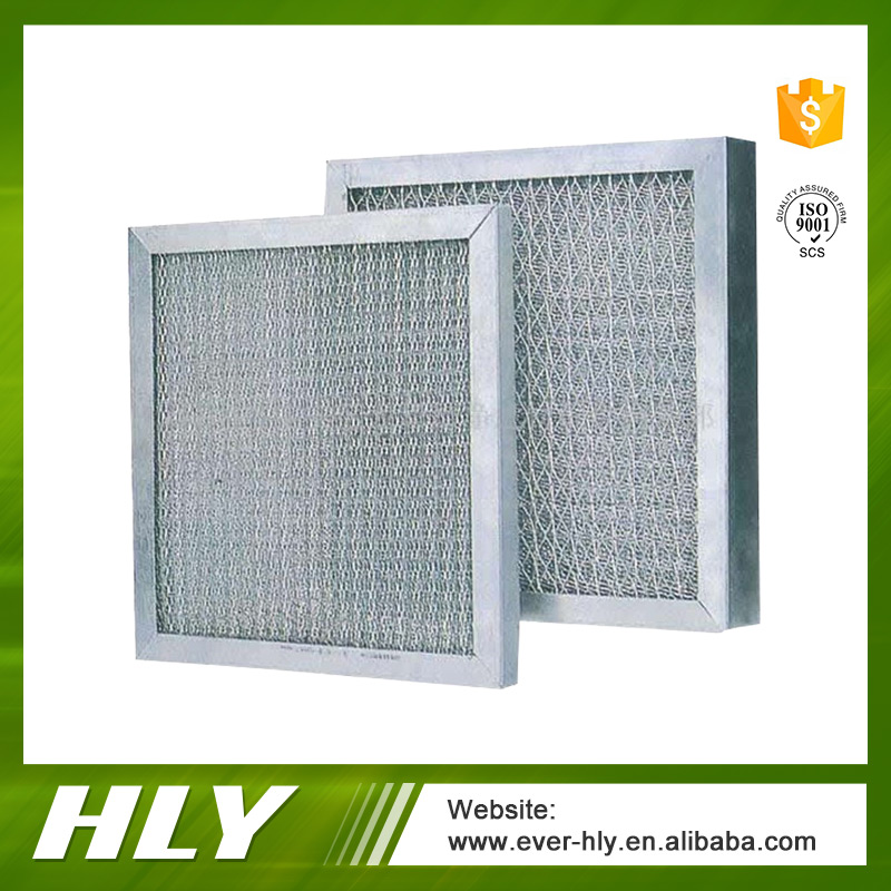 Primary effect washable metal mesh air filter prefilter