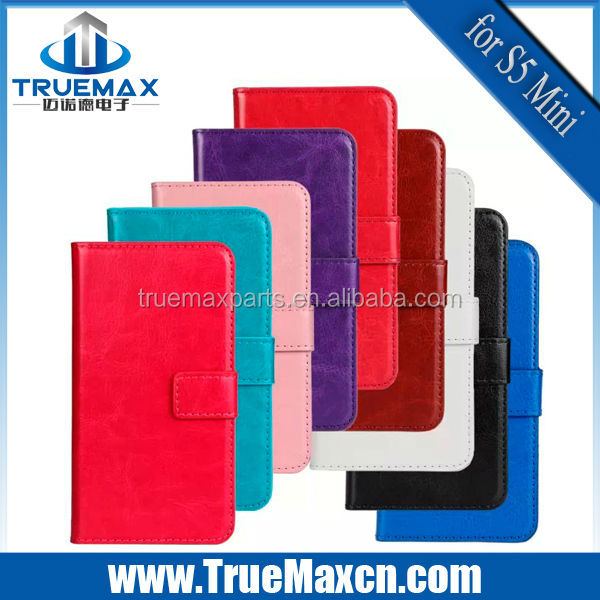 Wholesale Cheap case for samsung galaxy S5 Mini Genuine Leather case