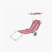 Durable Promotion Compactrec Lining Beach Chair With Footrest Folding Beach Chair Wheels