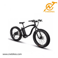 2018 cnebikes 26inch classic beach cruiser cheap electric fat tire chopper bike