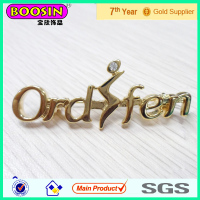 China wholesale Factory Price Glod Plated Metal Custom Name Brooch Pin #5908