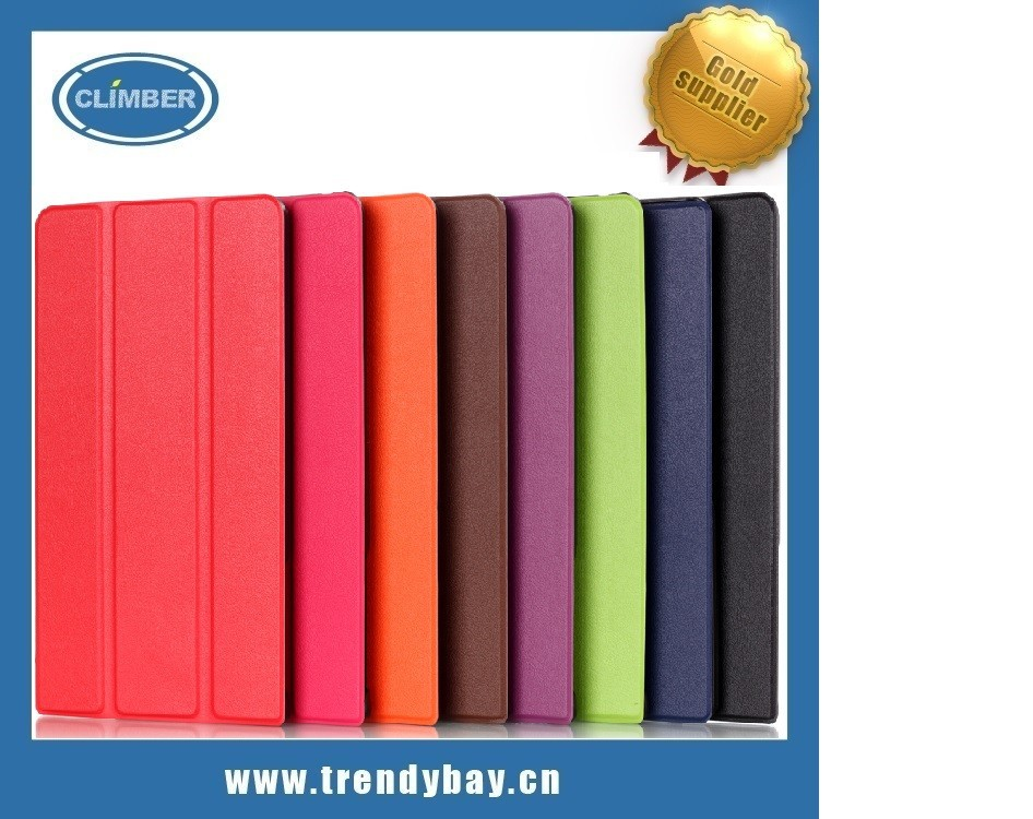 PU Leather Protective Cover Case 3fold for Dell Venue 8 7000 7840
