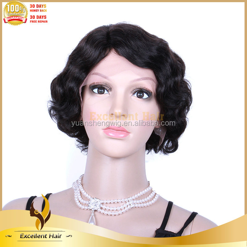 Crochet Braid Remy Wave Human Hair Short Bob Lace Front Wig