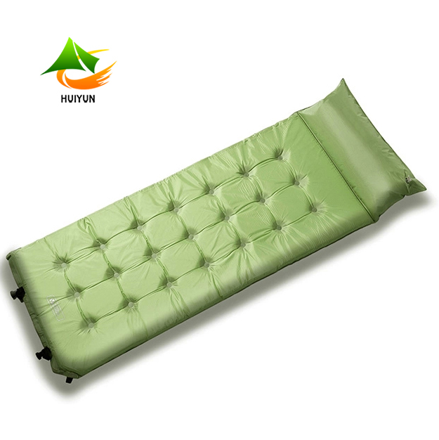 Self Inflatable Air Mattress With Pillow Foldable Camping