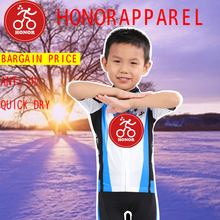 2017 Honorapparel New Product Cool Children's Short Sleeve Cycling Skin Suit Short Sleeve Inline Skating Suit