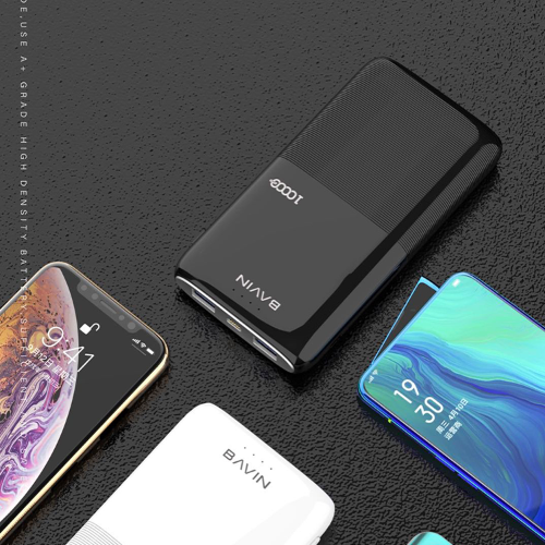 2019 New Product Logo Customize Colorful Portable Pocket Slim Mobile Phone Charger 10000mAh Power Bank for iPhone 8/8 Plus