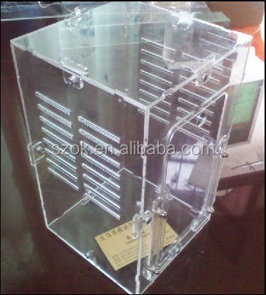 Clear hot sale acrylic pet squirrel cages wholesale