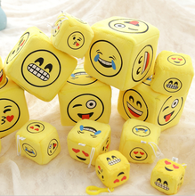 Cheap wholesale small size emoji plush sieve baby toy