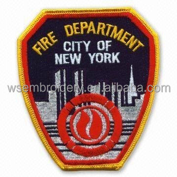 Customed Fire Department Embroidery Badge Iron-On Uniform