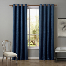 wholesale curtain blue hotel blackout curtain polyester curtain