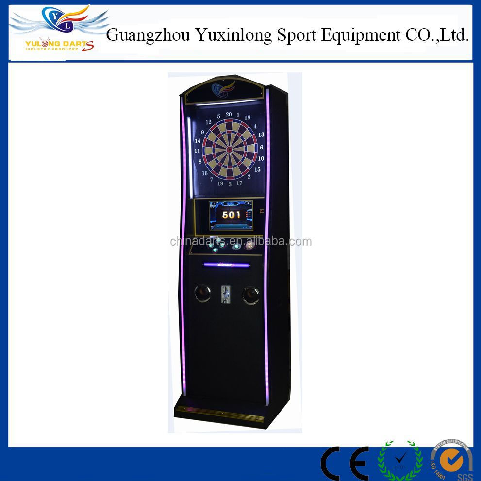 Professional tungsten darts game machine with coin operated dart boards