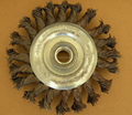 KNOT FLAT STYLE STRAIGHT WIRE RADIAL BRUSH