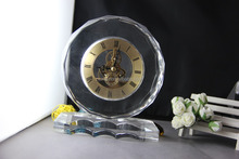 waterford crystal clock,crystal desk clock with crystal base,crystal table clock