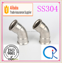 Stainless Steel Pipe 45 Degree Elbow DN15 Dimensions Fitting