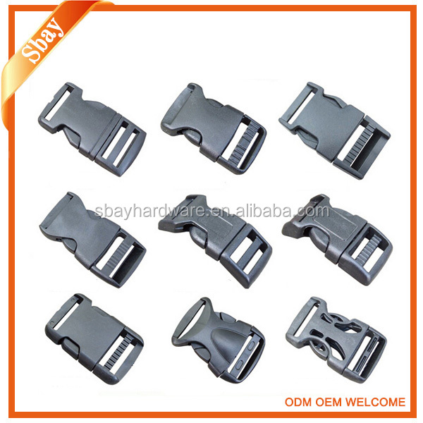 Custom made plastic side release buckle/plastic cam buckle/plastic belt buckles