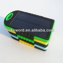 Colorful & pretty electric car solar charger with built-in flashlight