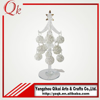 Low price handmade pendants decorated clear glass christmas tree