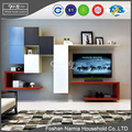 Ninety degree high quality wooden tv cabinet design with different shapes pictures