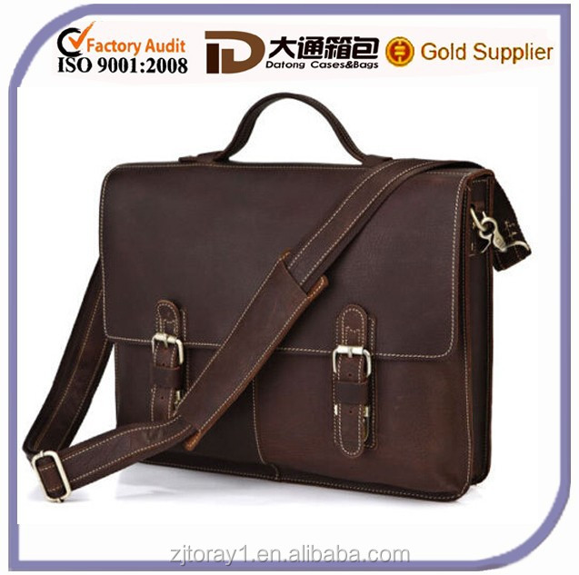 vintage men executive leather briefcase bag