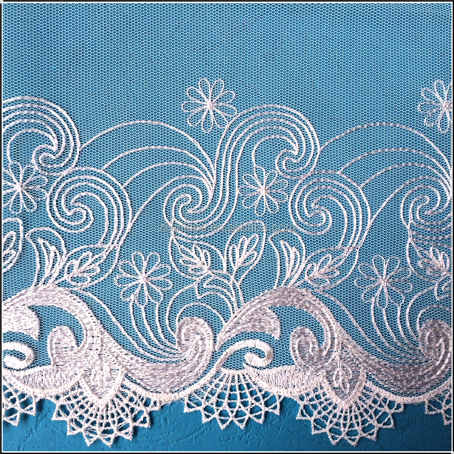 Latest for sale guipure white lace fabric dubai