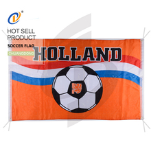 China factory professional printed polyester custom soccer flag
