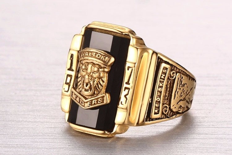 Wholesale Stainless Steel Imitation Jewellery Lion Head Ring Gothic Jewelry,Customized Single Stone Ring Designs For Men