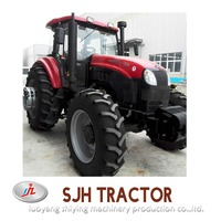 modern agricultural use farm tractor with farm implement