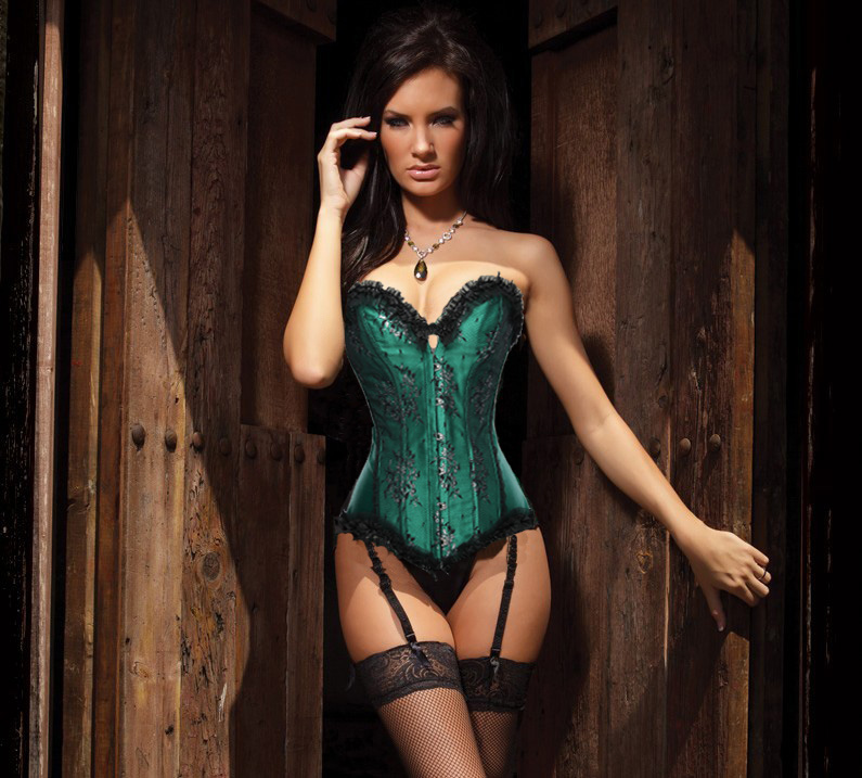 New Fashion Sexy Boned Lace corset lingerie Bustier 2XL TOP