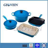 Porcelain Enamel 4pcs Cooking Pots and Pans for Kitchenware Non-stick Cookware