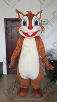 big smile squirrel mascot costume hot sale squirrel walking costumes soft fur kids costumes
