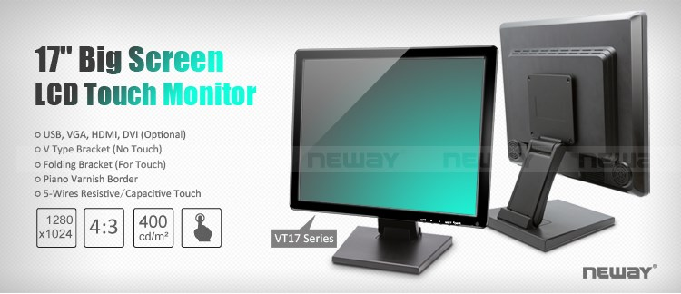 Full HD Square LCD 17 Inch Widescreen Touch Screen Monitor