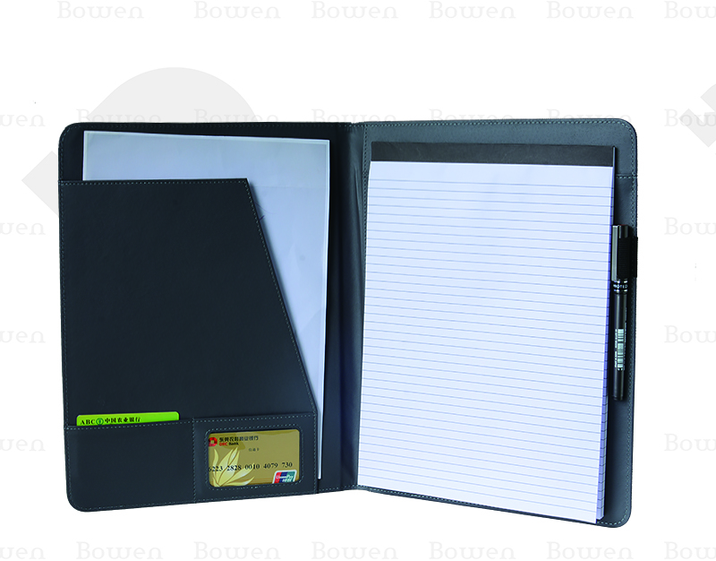 soft PU decent combination portfolio + notebook + card holder for gift