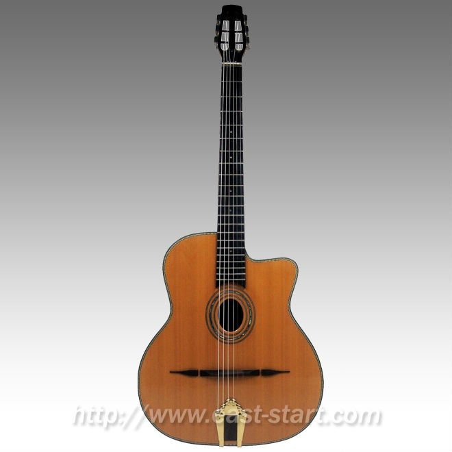 ESG-500A All Solid Oval Hole Handcrafted Gypsy Jazz Guitar