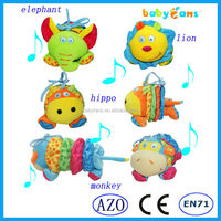Babyfans pull string music baby plush hanging toys educational cheap dolls for kids