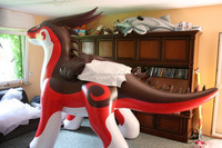 Promotional PVC Red Dragon inflatable zenith dragon with factory price