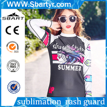 Hot sell custom digital print rashguard women rash guard manufacturer