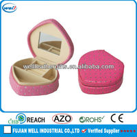 Portable heart shape small trinket box